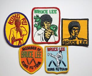 Bruce Lee Kung Fu Team Martial Arts Patches Set Of 5