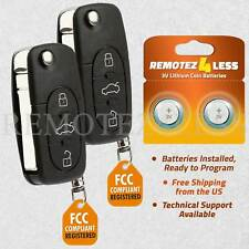 2 For 1998 1999 2000 2001 Volkswagen VW Golf Keyless Entry Remote Car Key Fob
