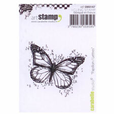 Carabelle Studio SMI0187 Cling Stamp - Papillon/Lettres (Butterfly with Letters)