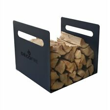Decofire® Firewood Fire Wood Carrier Durable Log Holder Matte Black Coated Steel