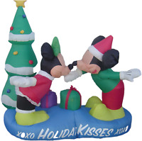Christmas Mickey, Minnie & Tree - Inflatable with light - 5' H x 5' W x 2.5' D