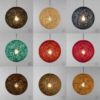 MiniSun Round Wicker Ceiling Pendant Light Shade Easy Fit Lampshade Lighting