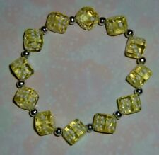 Yellow Dice Bracelet!  Bunco / Bunko, Casino / Poker Party Prize Gifts! Gamers!