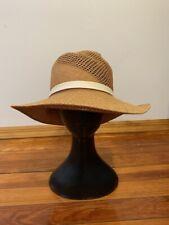 Rag & Bone Straw Panama Hat Brown Women's Size S/M