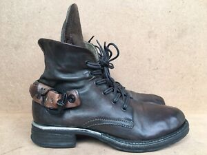 A.S.98 AirStep Ladies Leather Ankle Boot Biker Shoes Size EUR 37/ US6.5-7/ UK 4
