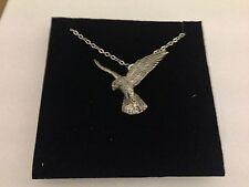 "Falcon PP-B18 Emblem Silver Platinum Plated Necklace 18"""
