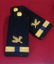 US Navy Epaulettes Supply Warrant Officer WW2 Wool Vintage 1940's   #B3