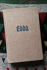 DIE EDDA Felix Genzmer 1933 (Norse mythology, gods, Asatro, pagan, poetic Edda)