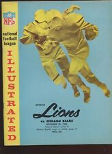 November 26 1964 NFL Football Program Detroit Lions at Chicago Bears EXMT