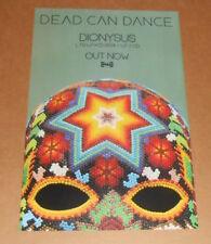 Dead Can Dance Dionysus Poster Promo Original 11x17 (sugar skull)