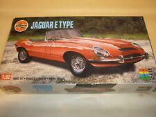 A vintage Airfix un made plastic kit of a Jaguar E TYPE,  boxed