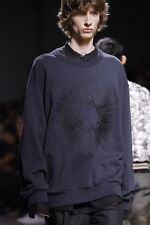 NWT Authentic DRIES VAN NOTEN *HOXTON* Embroidered Navy SWEATSHIRT Sweater L