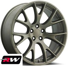 20 inch Dodge Charger SRT Hellcat OEM Replica Wheels Bronze Staggered Rims