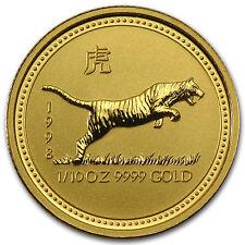 1998 1/10 oz Gold Lunar Year of the Tiger BU (Series I) - SKU #9001
