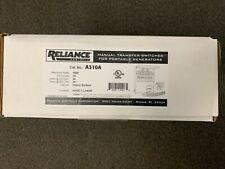 Reliance A310a 7500 Watt 10 Circuit 120240 Volt Transfer Switch New