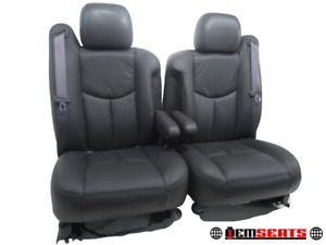 GM CHEVY TRUCK SUV OEM Front Seats with NEW Leather 2003 2004 2005 2006 '