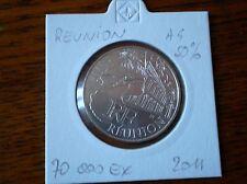 Pièce 10 euros région REUNION 2011  sous ETUI argent 50%. 70 000 EX