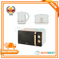 Tower 1.5 Litre Jug Kettle, 2 Slice Toaster & 800W Manual Microwave In Rose Gold
