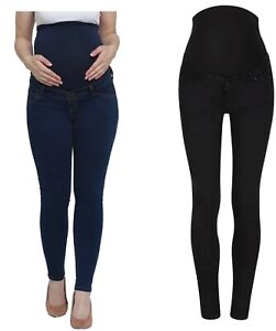 Mothercare Maternity Skinny Jeans Women's Blue Black Over The Bump Pregnancy NEW