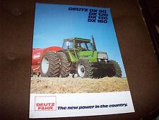 Deutz-Fahr Deutz DX 90 120 130 160 Tractor Advertising Brochure
