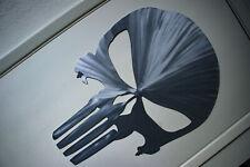 Punisher Skull Logo Metallic Polished Aluminum