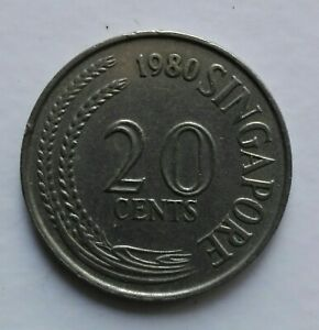 Singapore 1st Series 20 cents coin 1980