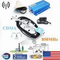 3G 4G 850MHz CDMA Repeater Cell Phone Signal Booster Amplifier +Yagi Antenna Kit