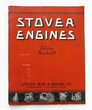 1937 STOVER ENGINE CATALOG NO. 39 Vintage Diesel Vertical Farm Equipment Supplie