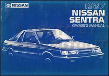 1987 Nissan Sentra Owners Manual Original OEM Owner User Guide Book E SE GXE XE