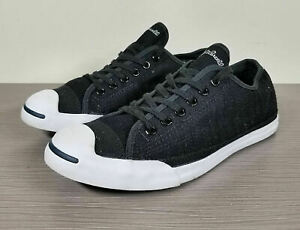 Converse Jack Purcell Sneaker, Black Canvas, Size 9 Womens / 7 Mens