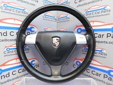 PORSCHE Boxster 987 SPORT STEERING WHEEL Black leather + AIRBAG   (5b1b)