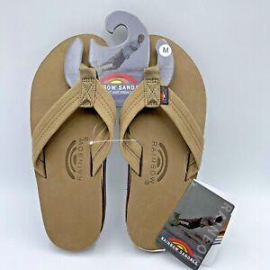 Authentic Rainbow Sandals Mens Premier Leather Double Layer, Medium (8.5-9.5) US