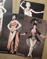 "SEVEN 7 CARDS 1950s LAS VEGAS SHOWGIRLS MUTOSCOPE TYPE BLANK BACK ""POSTCARDS"""