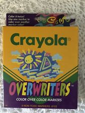 Vintage 1993 Crayola Overwriters 8 Unused Non Toxic Color Over Color Markers New
