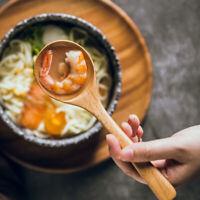 Japanese-Style Porridge Dessert Soup Scoop Tea Spoons Tableware Wooden Spoon