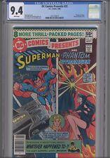 DC Comics Presents #25 CGC 9.4 1979 Comic: Superman & Phantom Stranger NEW Frame