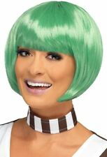Ladies Green Candy Creator Wig Oompa Loompa Fancy Dress