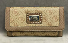 NEW GUESS BROWN CHEATIN HEART MULTI CLUTCH WALLET