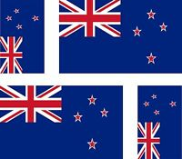 4 x flag decals sticker bike car vinyl helmet motorcycle new zealand