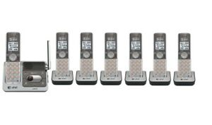 AT&T DECT 6.0 7 Cordless Telephone Phone Talking Caller ID CL82401 + 3 CL80101