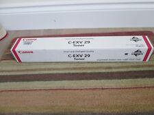CANNON GENUINE MAGENTA C-EXV 29 TONER - BOXED SEALED P/N 2790B002(AB) £60 + VAT