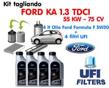 KIT TAGLIANDO FILTRI UFI + 4 LT OLIO FORD 5W30 KA 1.3 TDCI