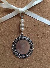 Bridal Bouquet Charm Round Photo Frame Memory Wedding Swarovski Beads