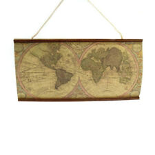 Dollhouse Global Map Hanging Decor Map of the World Miniature Accessory 3.5*1.8""