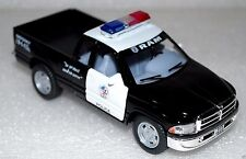 Dodge Ram Pickup Police Auto Die Cast Model Miniature Toys Black Small Scale 5""