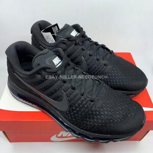 NIKE AIR MAX 2017 TRIPLE BLACK 849559-004 Men's Running Shoes US 9 - 11