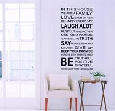 W175 Wandtattoo Hausregeln Familien Regel schwarz House Rules XXL Wandaufkleber