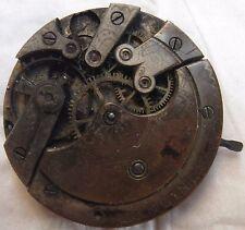 Longines Pocket watch movement balance broken stem to 3 some parts missing