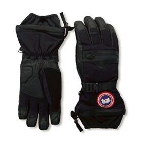 Canada Goose NORTHERN Down 525 Fill Black Grey Ski Snowboard Gloves Mens 5156M