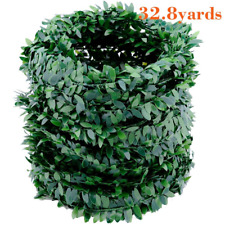 32.8 Yards Artificial Ivy Garland Foliage Green Leaves Fake Vine Headband for